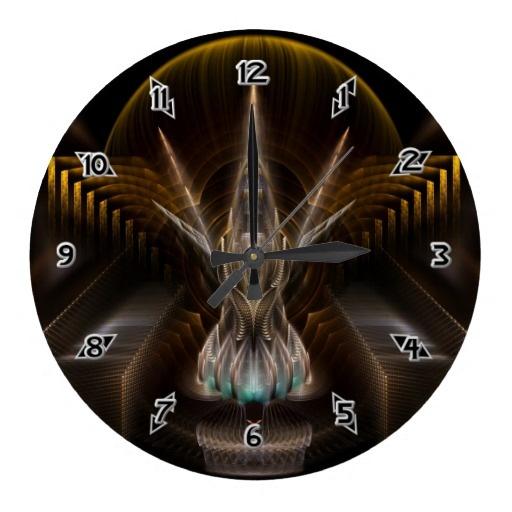 Epsidyian Seven Fractal Art Wall Clocks $28.10 - Click Here http://xzendor7.com/xzendor7-wall+clocks.php