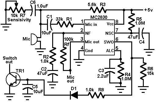 Voice Switch Circuit Diagram