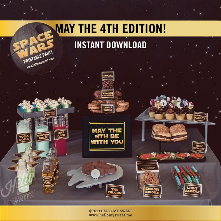 May The 4th Be With You Birthday: Star Wars May The 4th Be With You Party Set