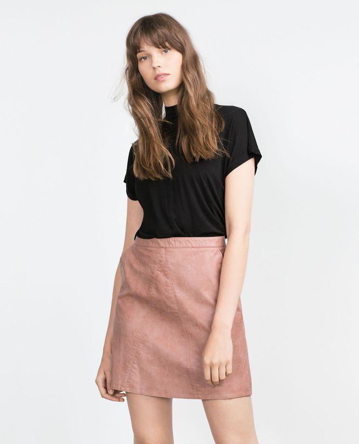 T - SHIRT À COL MONTANT - Tout voir - T - shirts - FEMME   ZARA Belgique