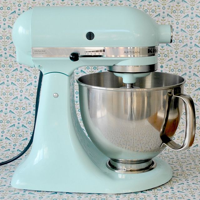 Kitchen Aid in duck egg blue...this is my mixer!  Such a good choice in color :-)