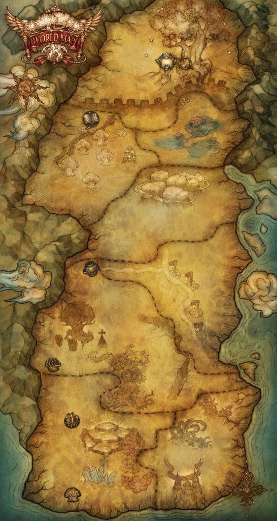 Tree of Savior World Map All maps