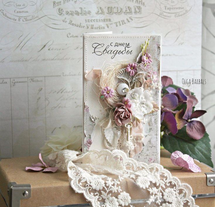 LIVE * LOVE * CREATE: Открытка _Свадебная цветочная
