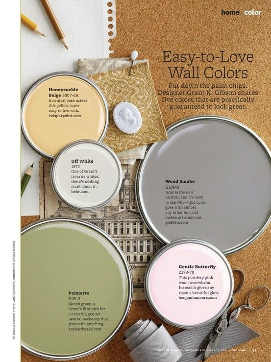 calming colors wallpaint by Mica Mutig | Paint shades ...