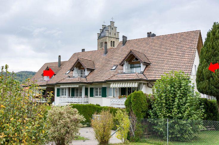 An ruhiger, ländlich-idyllischer Lage am Dorfbach. Lommis liegt im Dreieck Wil - Frauenfeld – Weinfelden, Nähe Autobahnanschluss. Einkaufsmöglichkeiten, Bushaltestelle, Kindergarten und Primarschule sind in wenigen Gehminuten zu erreichen.