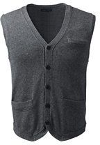 Lands' End Men's Cotton Wool Vest-Toffee Heather