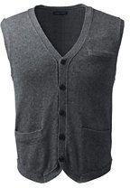 Lands' End Men's Cotton Wool Vest-Toffee Heather