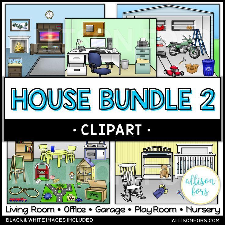 House Clip Art Bundle 2 Allison Fors Functional Life Skills Clip Art Sight Words Kindergarten Activities