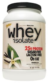 Whey Protein Isolate Vanilla!!! My mom and I make smoothies every morning and we make sure to include our Whey Protein:)