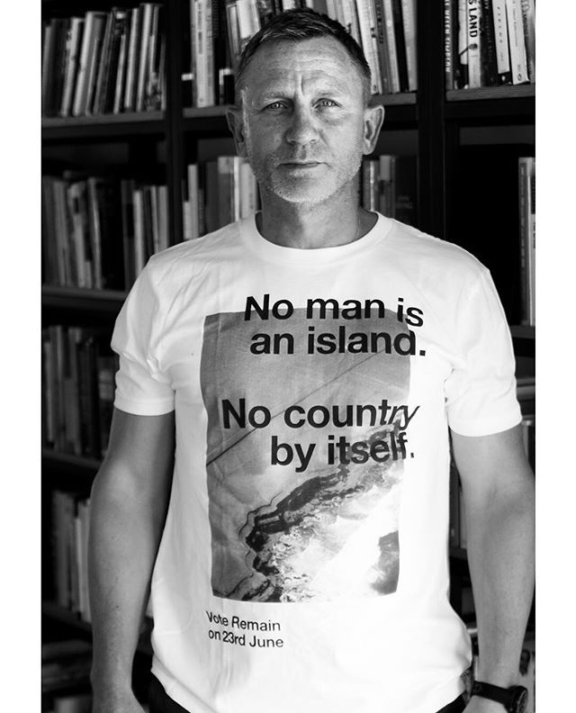 Adding special agency to the campaign to keep Britain Stronger In Europe. Daniel Craig just sent this photograph.  Don't trust opinion polls. Every single vote matters. Please make time to go to the polls this Thursday. Those who can Vote Remain. #voteIN #voteremain #nomanisanisland #whatislostislostforever #brexit #voteleave #voteout #jamesbond #eureferendum #sayyourein #danielcraig