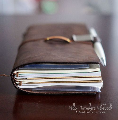A midori is a traditionally a leather cover, that can hold up to 5 journals/sketchbooks, list books, etc! All together using an easy elastic binding system, that allows you to put in as many as you want, and then when you have filled a particular journal, you just remove it, and add a fresh clean one to the mix!