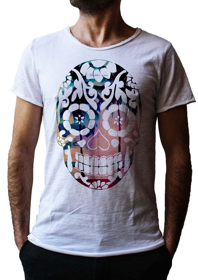 Men's T-Shirt ESOTIC SKULL - Made in Italy - 100% Cotton - SKULL COLLECTION http://www.doubleexcess.com/