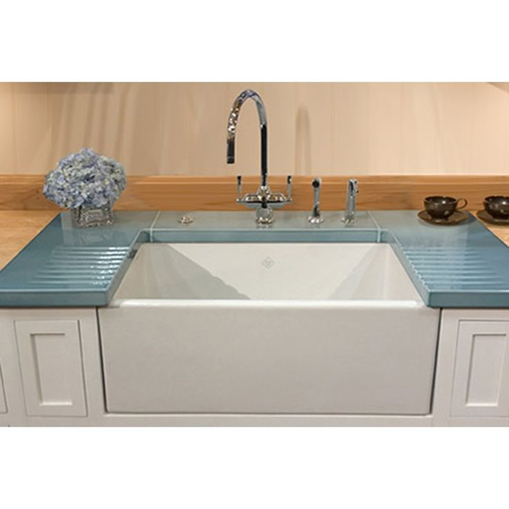 Furniture. Gorgeous And Charming Shaws Sink Ideas. Remarkable Kitchen Interior Shaws Sink Idea Featuring Wall Mounted White And Sky Blue Ceramic Material Charming Kitchen Undermount Shaws Sink And White Teak Sleeky Wall Mounted Base Storage Kitchen Sink Cabinets Plus Freestanding Brushed Nickel U Shape Kitchen Double Handle Faucet. Shaws Sinks