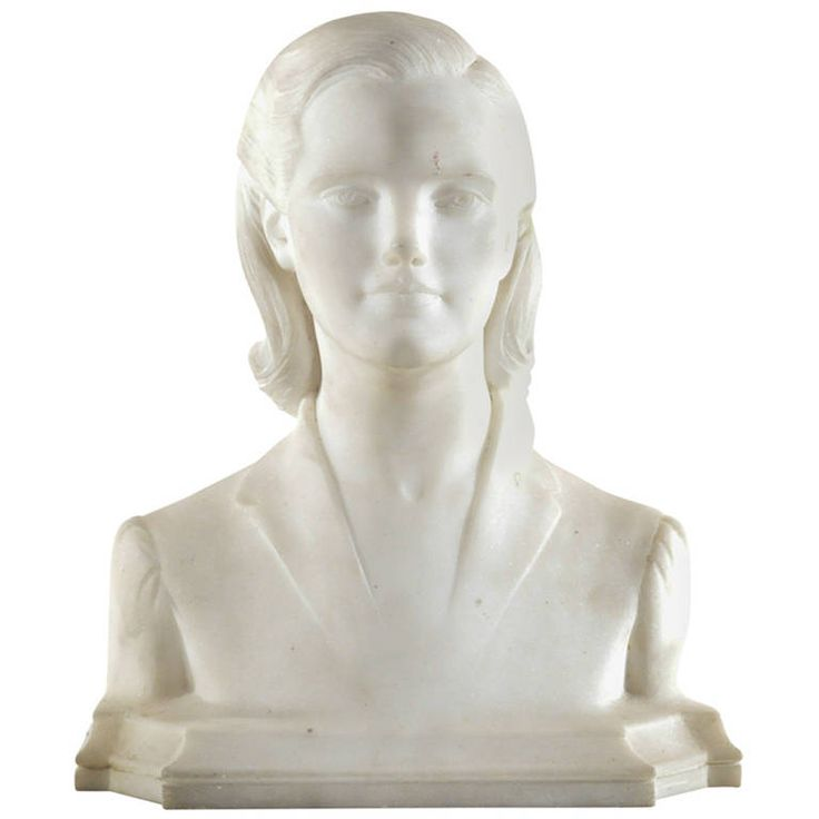Mario Joseph Korbel Carved Marble Bust | From a unique collection of antique and modern busts at https://www.1stdibs.com/furniture/more-furniture-collectibles/busts/