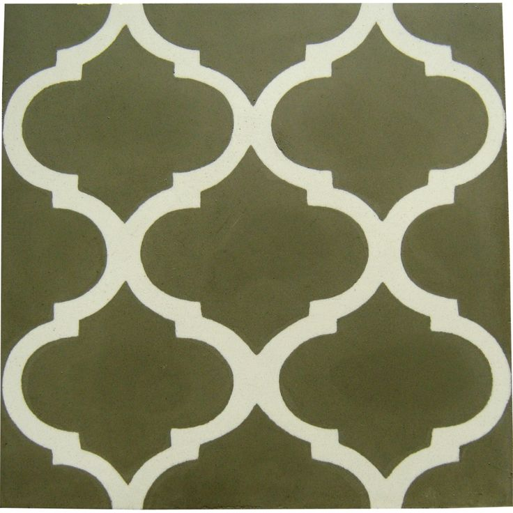 Mini Lantern Encaustic Tile, White