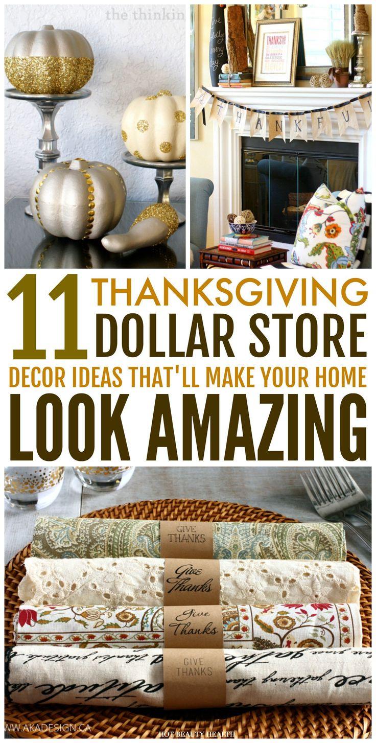 Thanksgiving Decoration Ideas Pinterest Unique 11 Dollar