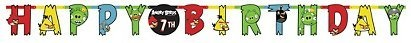 Angry Birds Birthday Party Jumbo Letter Banner Kit Customizable Over 10 Feet Long Letters 10 Inches Tall ♥