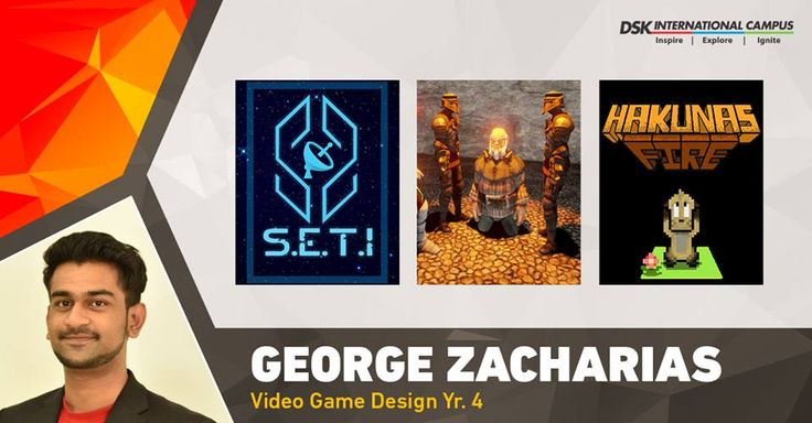 #DSKICGEM George joined #DSKInternationalCampus to study #VideoGameDesign, post completing his High School graduation. He and his team has won the FICCI Frames BAF #Award #StudentGameOfTheYear 2016 for their game Hakuna's Fire.