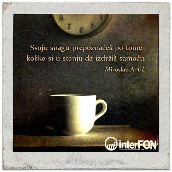 Mika Antić #citat #citatdana #snaga #samoca