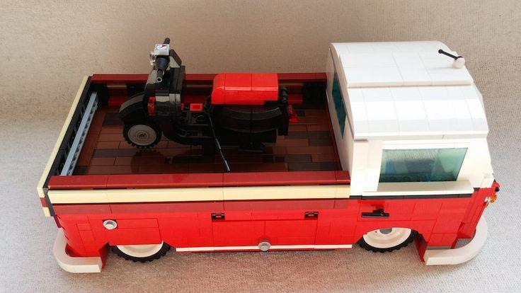 lego 10220 bulli t1 pickup 2 discover more ideas about lego. Black Bedroom Furniture Sets. Home Design Ideas