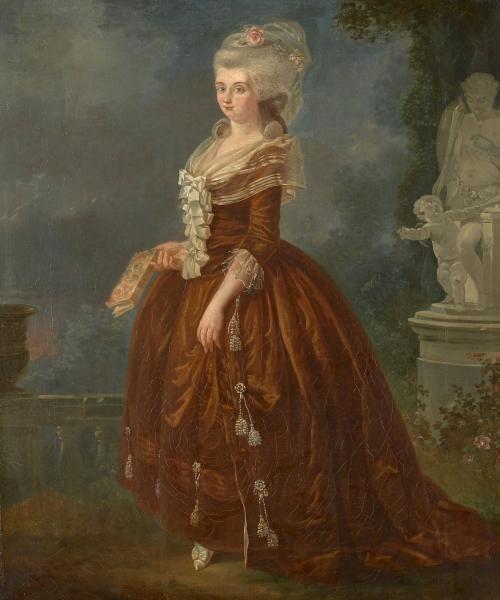 Charles-Louis Le Carpentier Pont-Audemer, 1744 - Rouen, 1822 - Portrait d'une dame, 1784.