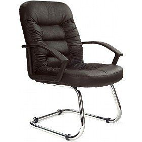 Phoenix Leather Faced Visitor Office Chair