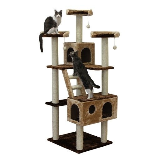 Kitty Mansions 73 Beverly Hills Cat Tree In Brown And