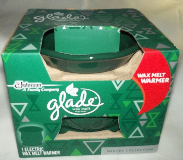 glade wax melt warmer 1 electric wax melt warmer in hunter green retired color glade