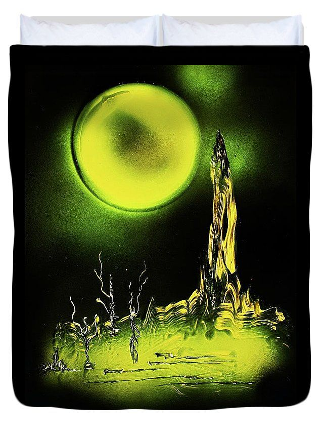 Land Of Rituals Duvet Cover Printed with Fine Art spray painting image Land Of Rituals Nandor Molnar (When you visit the Shop, change the size, background color and image size as you wish)