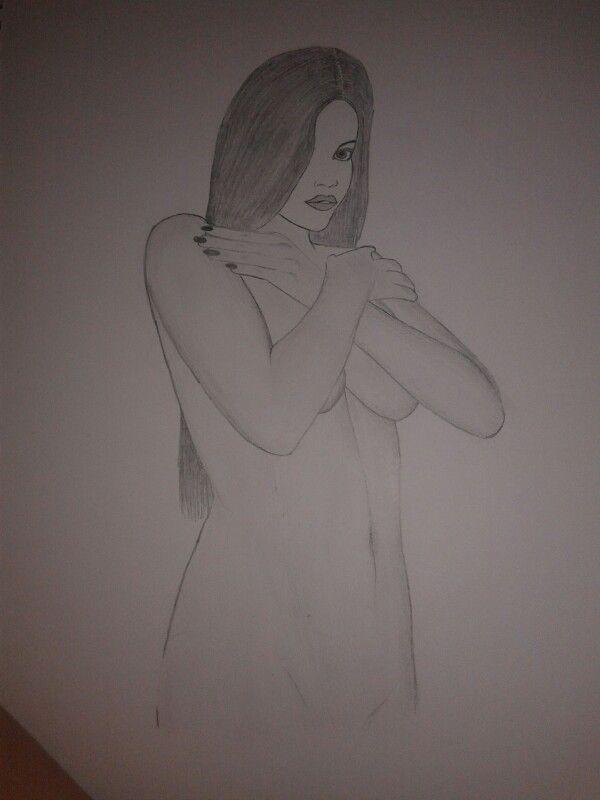 Naked woman pencil