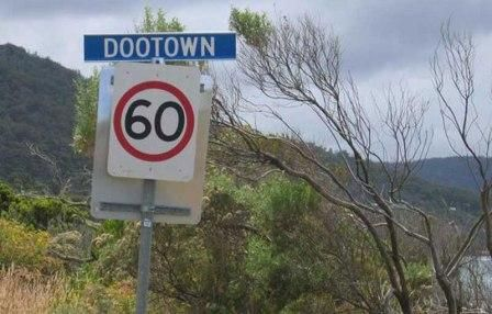 Doo Town in Tasmania was an unexpected find during a driving holiday. We all got a great laugh out of the property names. It was a little bit like the country towns with the humorous letter boxes. Loved it.