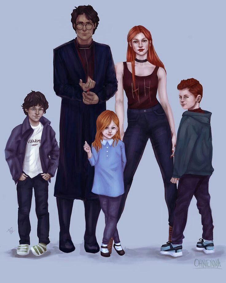 Potters - Albus Severus, Harry James, Lily Luna, Ginevra Molly, James Sirius