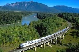 The Trans-Siberian Railway is the longest railway in the world, and crosses nearly all of Russia, the world's largest country by area. At approximately 5700 miles, the train leaves Moscow, located in European Russia, crosses into Asia, and reaches the Pacific Ocean port of Vladivostok. The journey can also be completed from east to west.