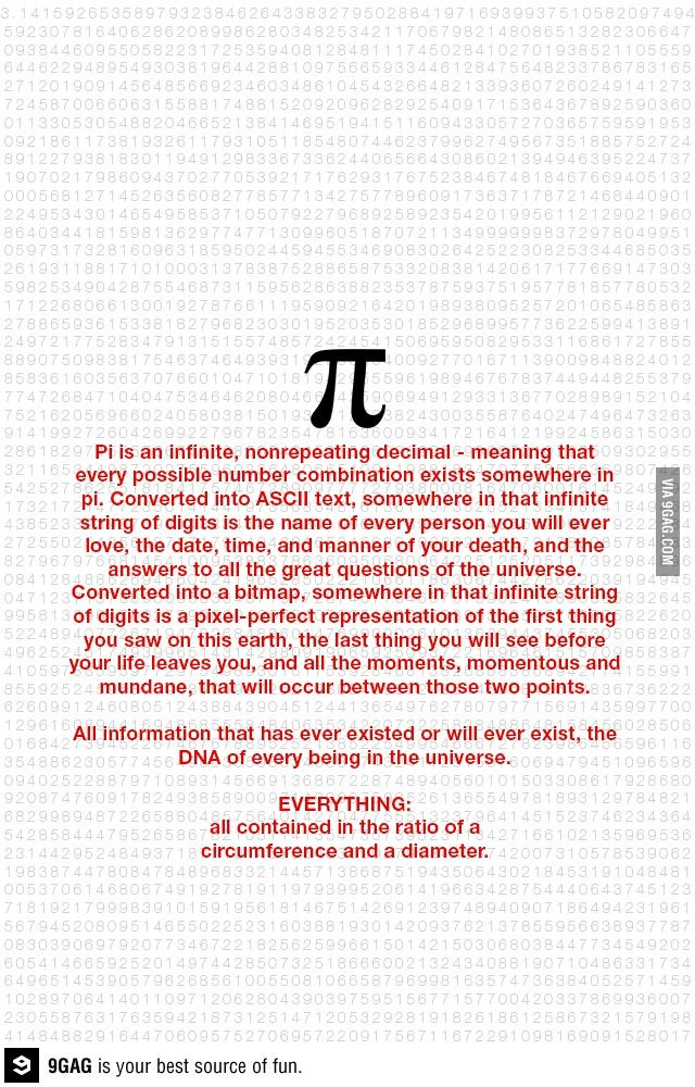 Mind blown. Now we know how important Pi is in our lives