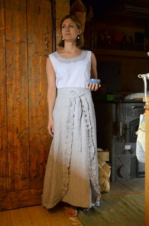 Linen top and skirt