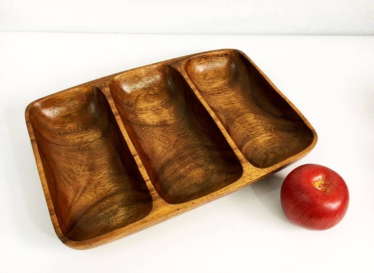 Vintage Monkey Pod Wood Tray - Made in The Philippines - Retro Wooden Three Sectioned Mid Century Modern Serving Dish - Serving Tray by MyVintageAntiqueShop on Etsy https://www.etsy.com/listing/516652014/vintage-monkey-pod-wood-tray-made-in-the