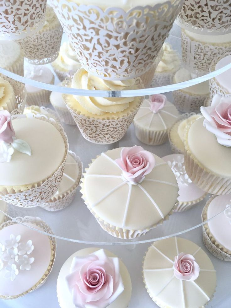 Pretty Vintage Style Wedding Cupcakes Celebration Cakes