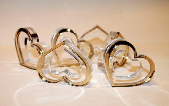 Anillo de servilleta de boda en oro corazón por FranJohnsonHouse
