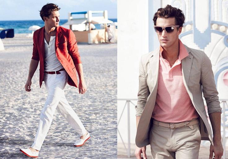 """Combinaciones contrastantes pero delicadas se observan en la reinvención del estilo """"Miami Vice"""""""