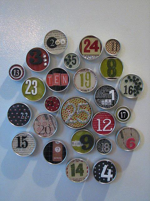 DIY: Calendario de adviento con latas Grundtal