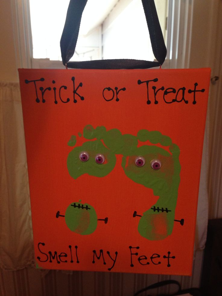 Trick or treat smell my feet!