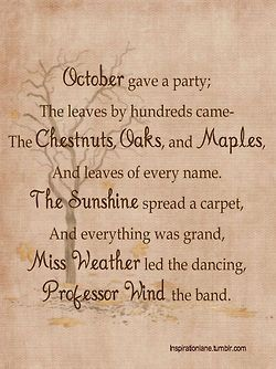 October gave a party!!