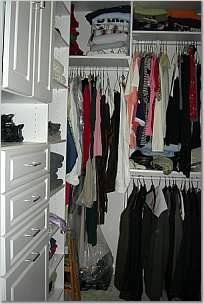 Extremely small (5' x 6'4') walk in closet - Home Decorating & Design Forum - GardenWeb