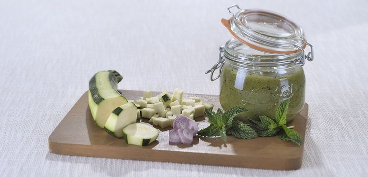 Soupe froide courgette menthe