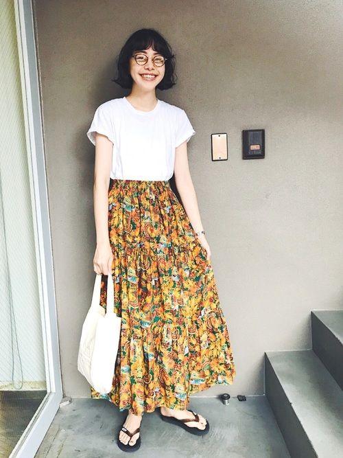 HANESのTシャツ/カットソー「Hanes 1P JAPAN Fit ジャパンフィット(1枚) クルーネックTシャツ」を使ったKanocoのコーディネートです。WEARはモデル・俳優・ショップスタッフなどの着こなしをチェックできるファッションコーディネートサイトです。