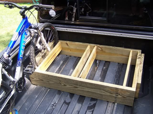 DIY Bike rack for truck bed.