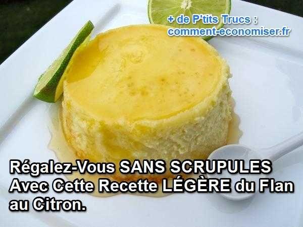 la recette du flan au citron light