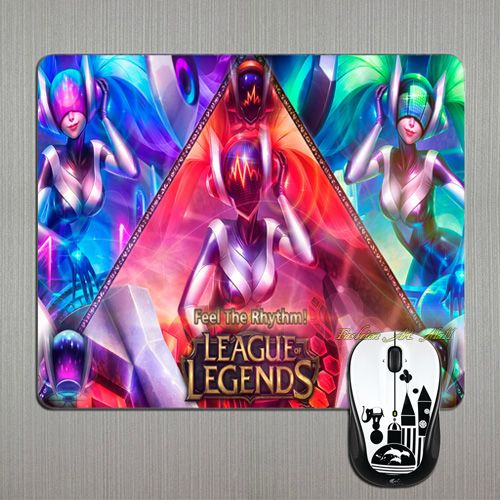 Wholesale Top Quality LOL DJ Sona 3 in 1 Concussive Ethereal Kinet Multi Soft Computer Mouse Pad for Optal /Trackball Mouse