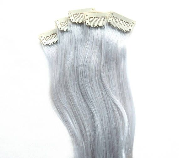 Silver white hair extensions (for sale!). #whitehair #white #silver #hair #extensions #hairdye #winter #gift #christmas #giftforher #hairstyle #haircolor