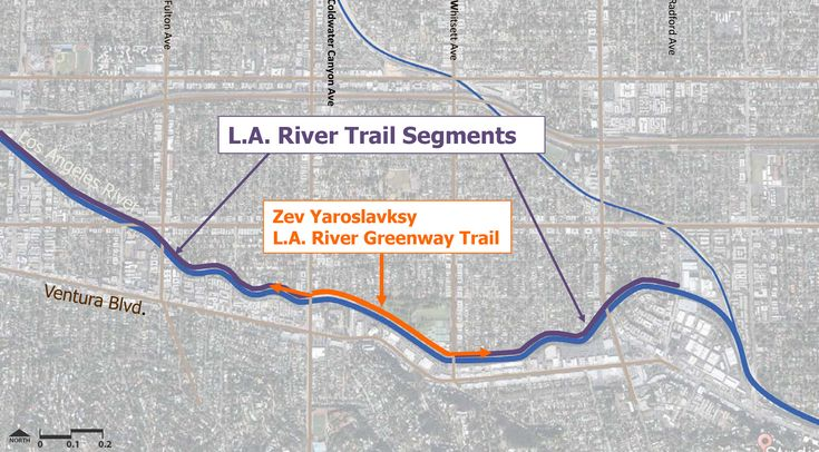 Tree-lined walking and biking path opening along the LA River in Studio City - Curbed LAclockmenumore-arrownoyes : The path closes a gap in the LA River Trail in the Valley